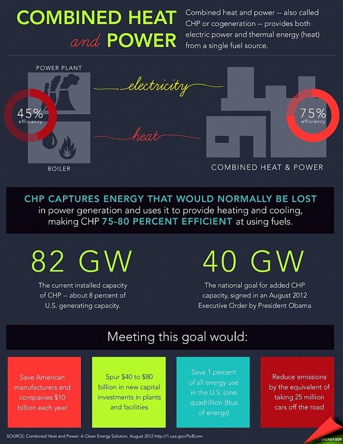 An infographic describing the goal of CHP